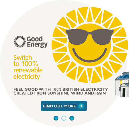 Switch to Good Energy renewable energy suppliers
