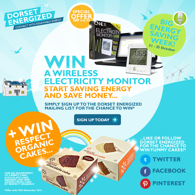 Win an Owl Energy Saving Monitor and Organic Cakes