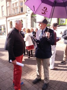 The UKIP delegation were in the Town and Vince took this opportunity to debate with them the merits of renewables