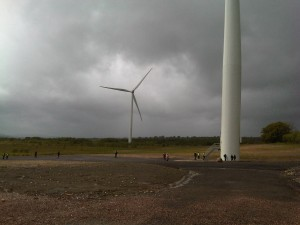 Oakdale Wind Farm - up close