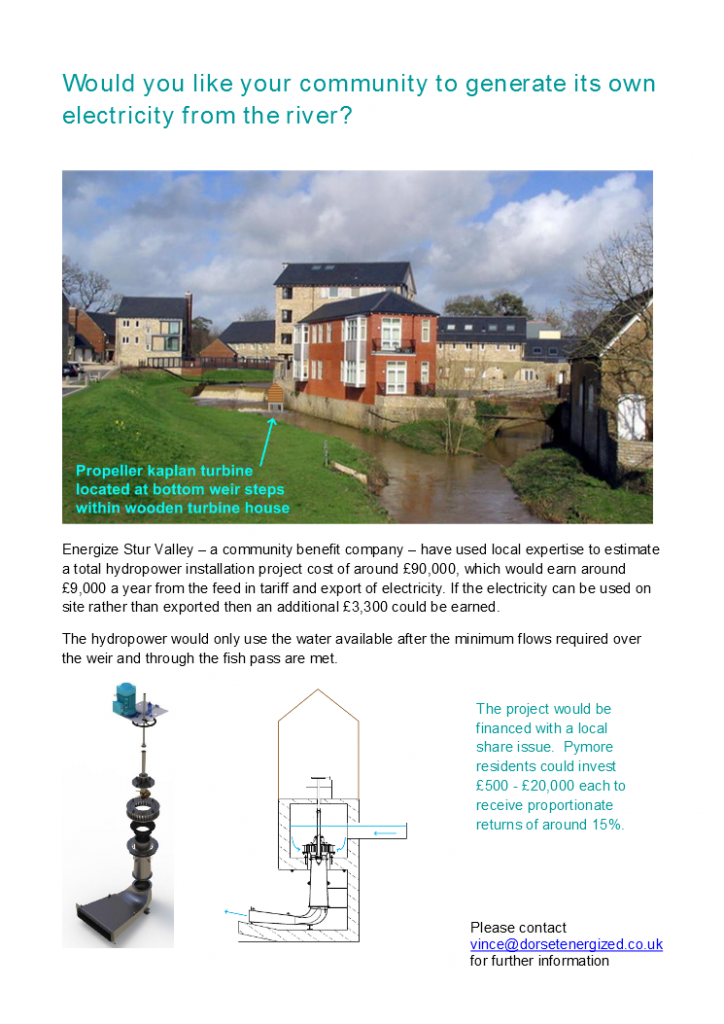 Would you like your community to generate its own electricity from the river
