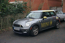 Mini E recharging in the UK