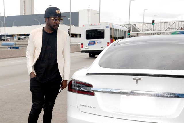 Will.i.am with his Model S