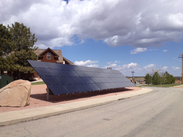 Blanding, Utah Tesla station, 44 panels @ 230 watts each